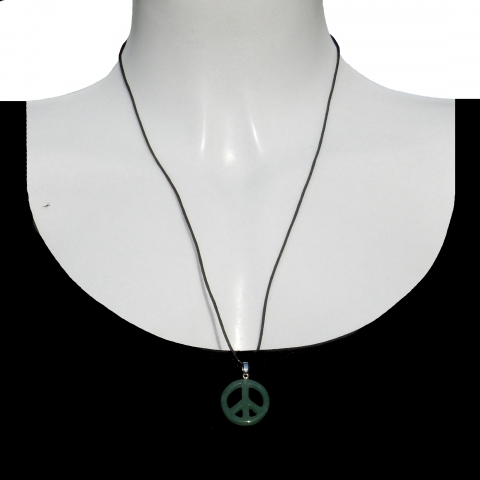 Charm peace with shoelace. Material: Aventurine.