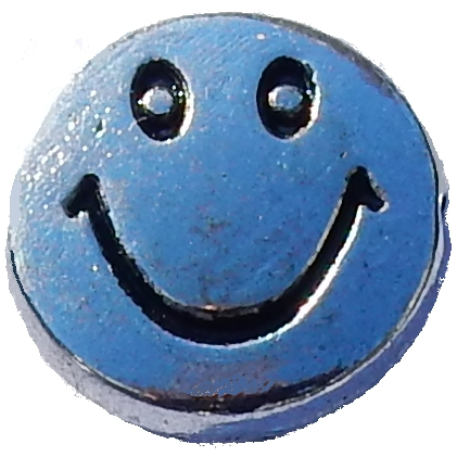 Silver bead smiley.