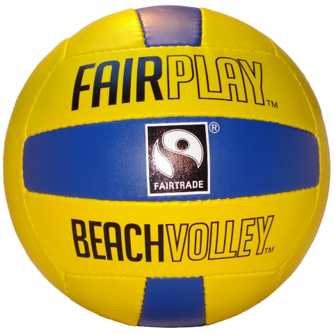 Fairplay beach volleyball yellow / blue.